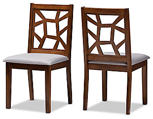 Asymmetrical Modern Dining Chair (Set of 2), Walnut/Ash, large
