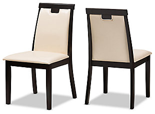 Faux Leather Upholstered Dining Chair (Set of 2), , large