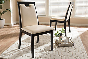 Faux Leather Upholstered Dining Chair (Set of 2), , rollover