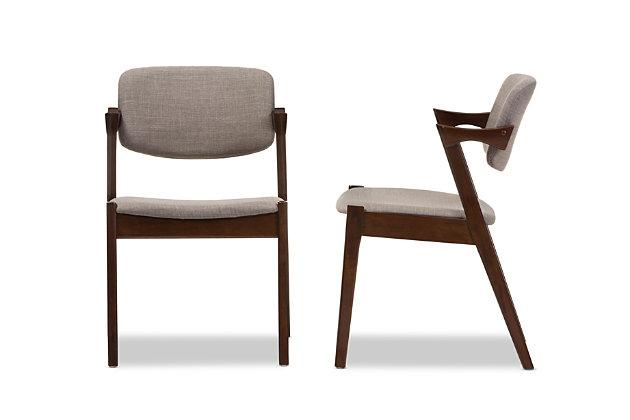 Mid Century Modern Dining Armchair (Set of 2), , large