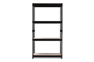 Metal 4-Shelf Closet Storage Organizer, Black, large