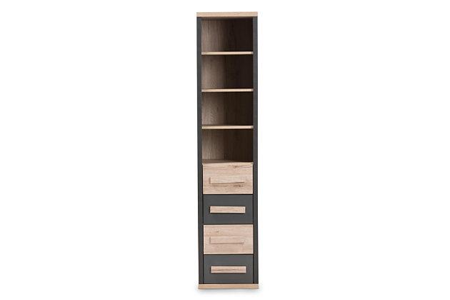 Modern Two-Tone Storage Organizer, , large