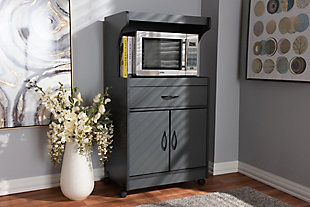 Modern Kitchen Cabinet, Charcoal, rollover