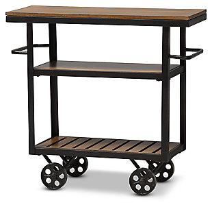 Rolling Mobile Serving Cart, , large