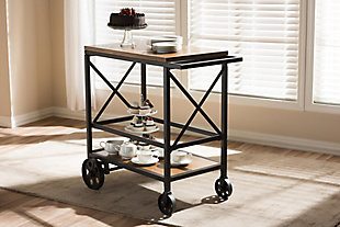 Rolling Mobile Serving Cart, , rollover