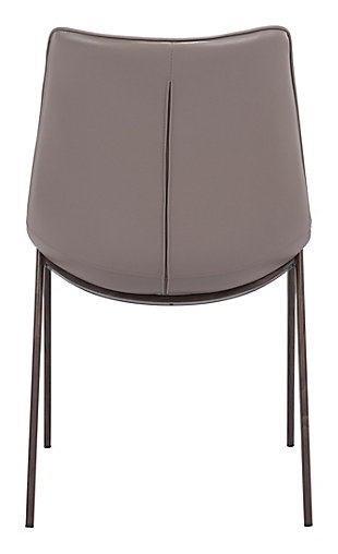 Margarite Stainless Steel Dining Chair (set of 2), Gray, large