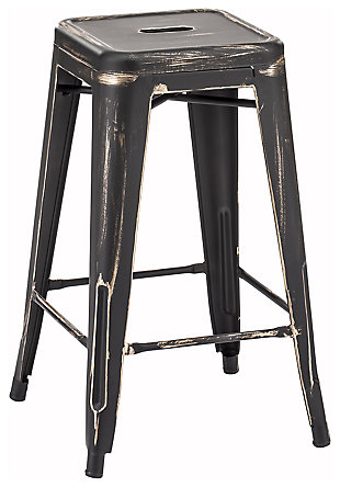 Mirage Counter Height Bar Stool (Set of 2), Black, large