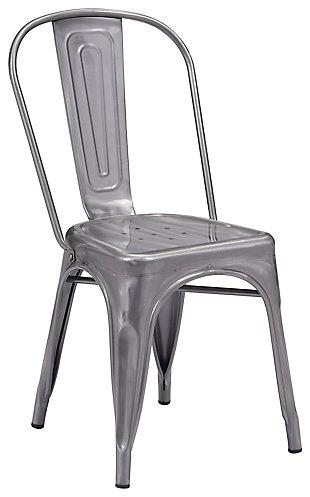 Stout Metal Dining Chair Gunmetal (Set of 2), , large