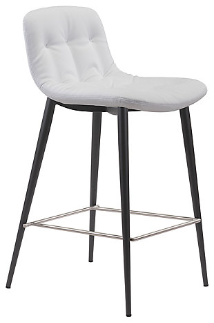 Tabitha Counter Height Bar Stool (set Of 2), White, large