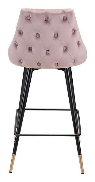 Posano Velvet Counter Height Bar Stool, Pink, large