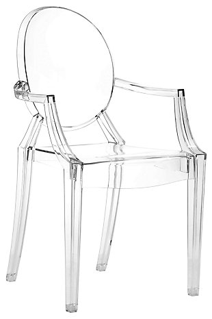 Alfred Acrylic Dining Chair (Set of 4), Clear, large