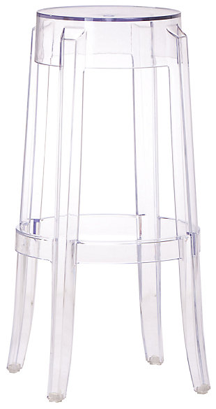 Alfred Acrylic Bar Height Bar Stool, , large