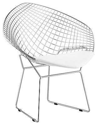 Net Dining Chair (Set of 2), White, large