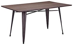 Warren Rustic Rectangular Dining Table, , large