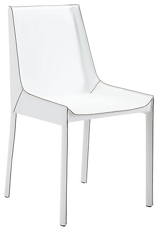 Luna Dining Chair (Set of 2), White, large