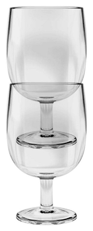 Acrylic Simple Stacking Wine Goblet (Set of 6), , large