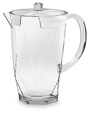 Acrylic Prism Pitcher with Lid, , rollover