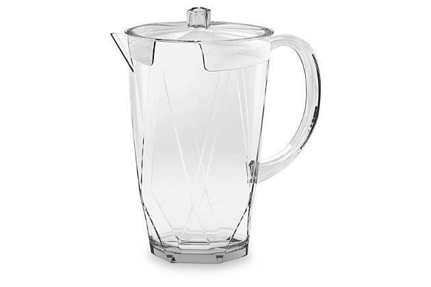 Acrylic Prism Pitcher with Lid, , large