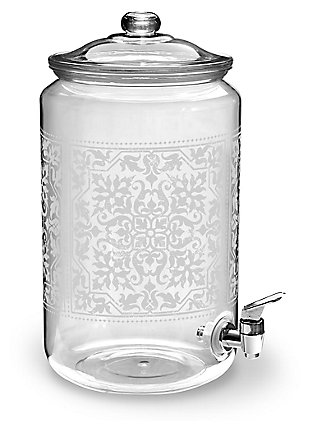 Acrylic Caravan Etched Beverage Dispenser, , large