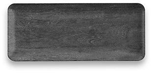 Melamine Faux Real Blackened Wood Tray, , large