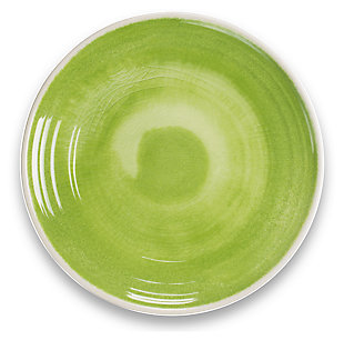 Tarhong Raku Green Dinner Plate (Set of 6), Green, large