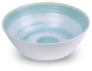 Tarhong Raku Aqua Serve Bowl, Blue, large