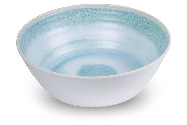 Tarhong Raku Aqua Serve Bowl, Blue, large