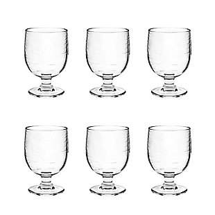 Tarhong 10.5 oz Cordoba Clear Stacking Goblet (Set of 6), Clear, large