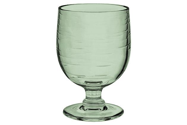 Tarhong 10.5 oz Cordoba Green Recycled Stacking Goblet (Set of 6), Green, large