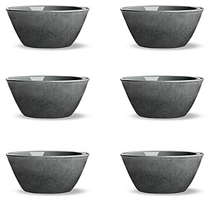 Tarhong Potters Reactive Glaze Bowl (Set of 6), Gray, large