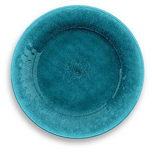 Tarhong Potters Reactive Glaze Dinner Plate (Set of 6), Teal, large