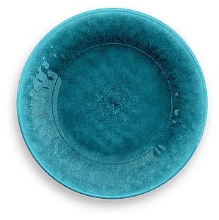 Tarhong Potters Reactive Glaze Salad Plate (Set of 6), Teal, rollover