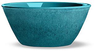 Tarhong Potters Reactive Glaze Bowl (Set of 6), Teal, large