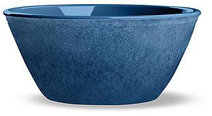 Tarhong Potters Reactive Glaze Bowl (Set of 6), Blue, large