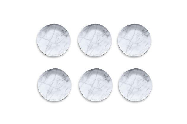 Tarhong Carrara Marble Salad Plate (Set of 6), , large