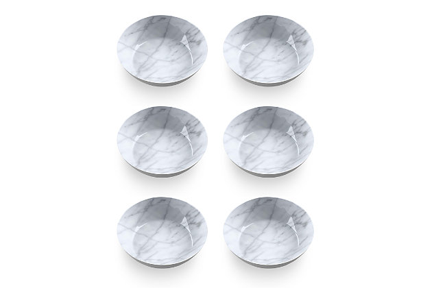 Tarhong Carrara Marble Bowl (Set of 6), , large