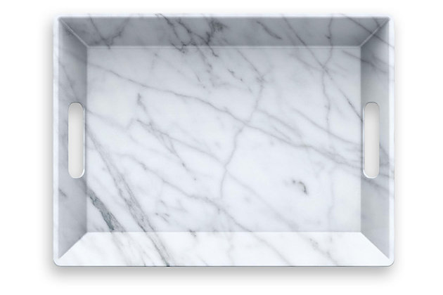 Tarhong Carrara Handled Serve Tray, , large