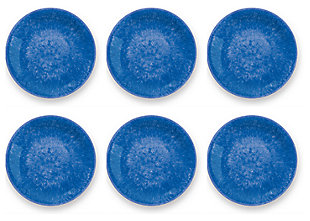 Tarhong Bali Brights Blue Reactive Dinner Plate (Set of 6), Blue, large