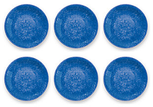Tarhong Bali Brights Blue Reactive Salad Plate (Set of 6), Blue, large