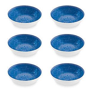Tarhong Bali Brights Blue Reactive Bowl (Set of 6), Blue, large
