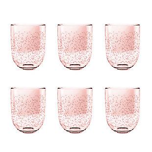 Tarhong 15.5 oz Bubble Blush DOF (Set of 6), Pink, large