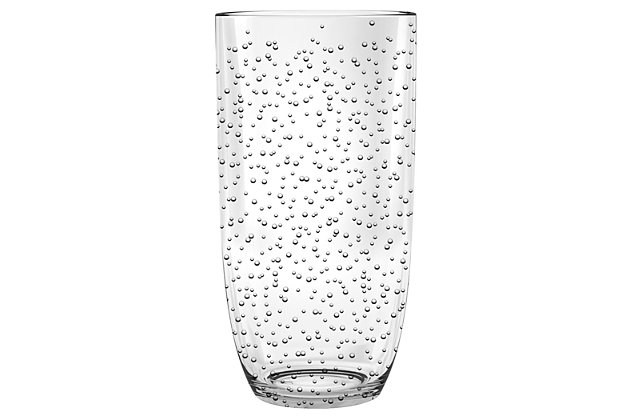 Tarhong 23 oz Bubble Clear Jumbo (Set of 6), Clear, large