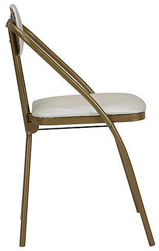 Cosco Folding Vinyl Padded Chair (Set of 4), Gold, large