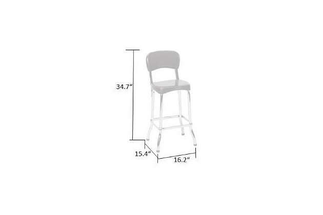 Cosco High Top Bar Stool (Set of 2), , large