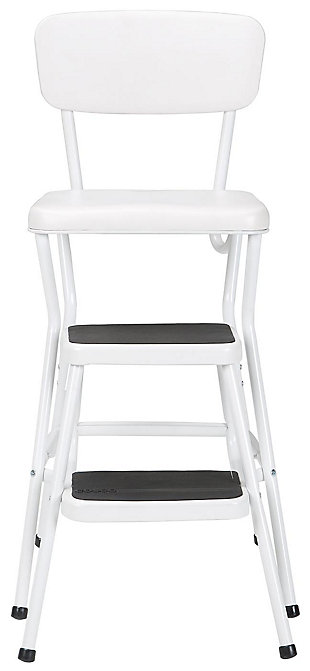 Cosco Retro Counter Height Step Stool with Sliding Steps, , large