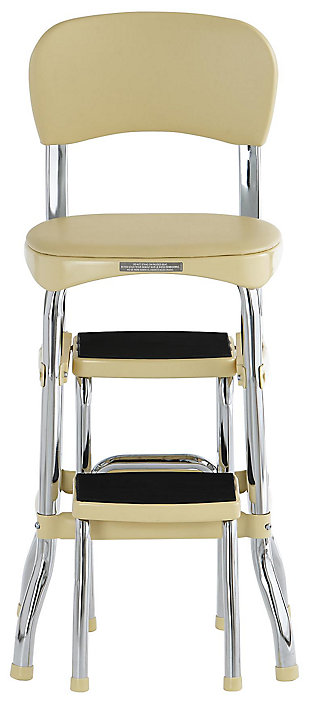 Cosco Retro Step Stool with Sliding Steps, Yellow, large