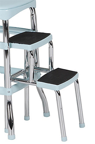 Cosco Retro Step Stool with Sliding Steps, Teal, large
