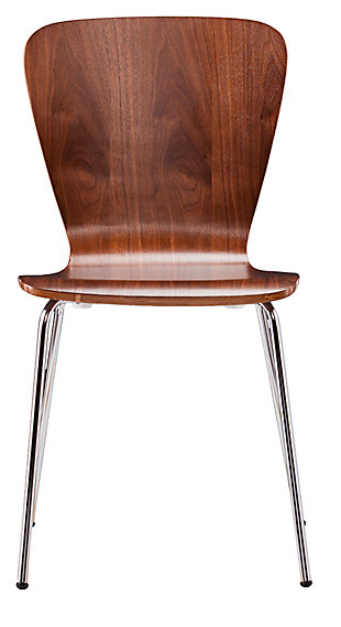 SEI Modern Dining Chairs (Set of 2), Brown, large