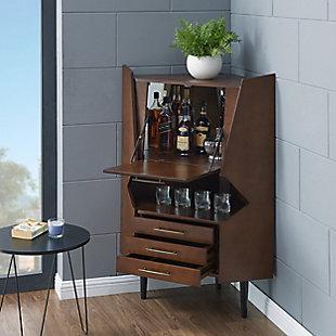 SEI Mid-Century Corner Bar Cabinet, , rollover