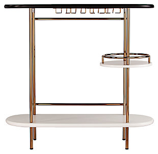 SEI Bar Table with Glassware Storage, , large